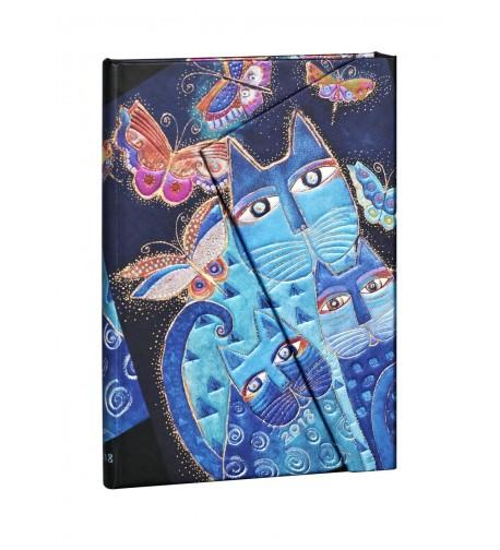 Kalendarz 2018 Blue Cats & Butterflies | Midi | HOR