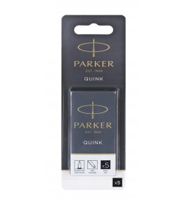 Parker-Naboje z atramentem QUINK-czarny 5 szt